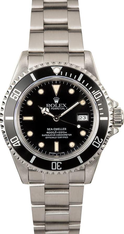 black rolex rolex 16600 sea dweller black dial