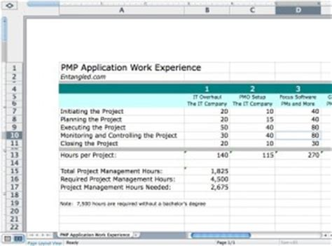 Credit Hour Form 187 Do I Enough Work Experience To Take The Pmp 187 Entangled