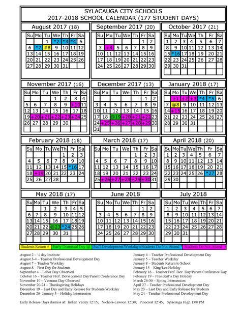 academic school year calendar school calendars