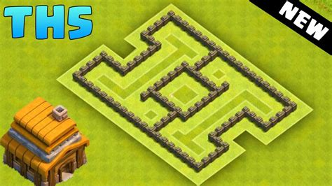 coc village layout th5 clash of clans town hall 5 hybrid base coc th5 best