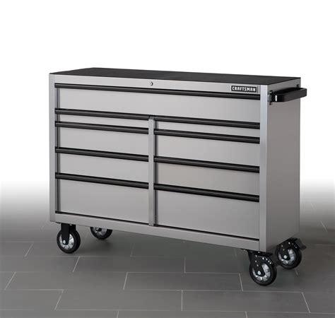 craftsman   drawer rolling cart stainless steel