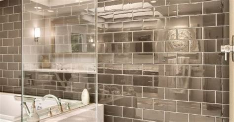 how to shine bathroom tiles really cool love the shiny taupe tile and clean lines of