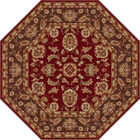 octagon rugs 5 tayse rugs sensation brown 5 ft 3 in octagon transitional area rug 4808 brown 6 octagon the