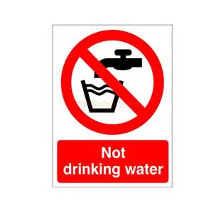 Wall Stickers Next Day Delivery not drinking water sign or sticker other work place
