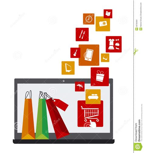 design online work shopping online stock vector image of concept isolated