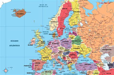 maps de europa mapa de europa con las ciudades