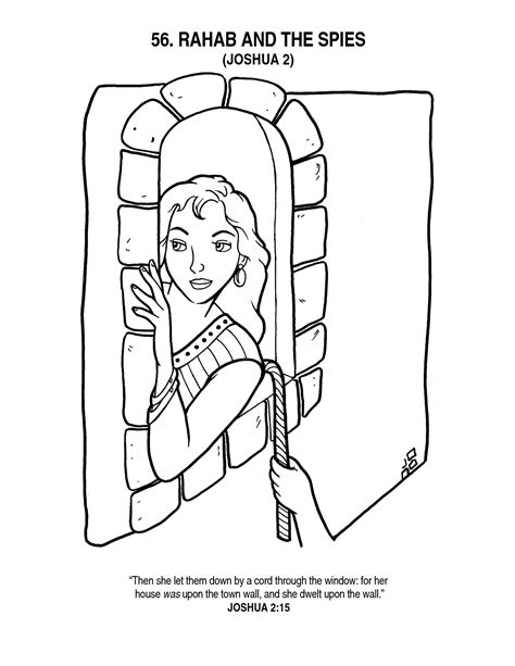 rahab coloring page az coloring pages