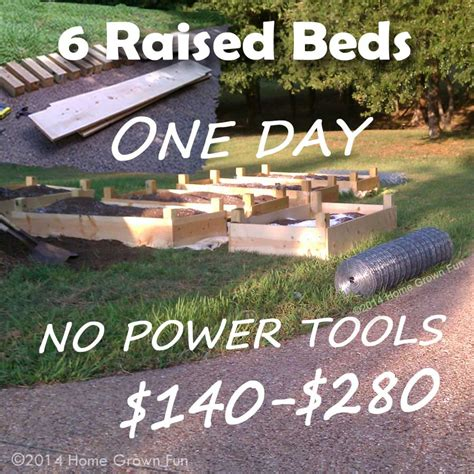 making raised beds build 6 raised beds in one day on a budget home grown fun