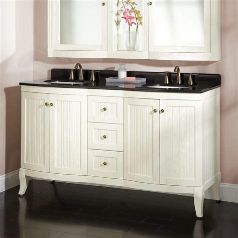 White Bathroom Vanity With Black Granite Top About 60 Quot Palmetto White Vanity Black Granite Top Bathroom Vanity White Top Black