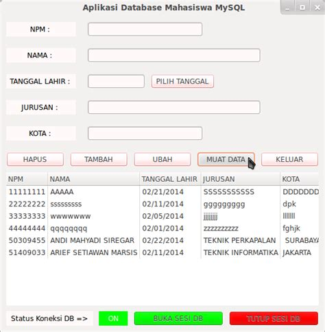 membuat aplikasi dengan database mysql rublog membuat aplikasi database mysql dengan menggunakan