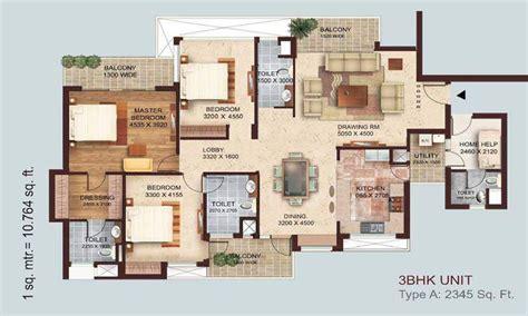 home plan design 4 bhk tulsiani golf view apartments