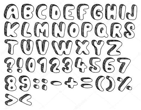 doodlebug font doodle schriften stockvektor 169 synchr 14192683