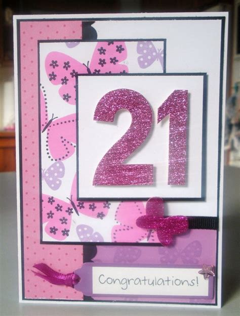 Handmade 21 Birthday Card - 37 birthday card ideas and images morning