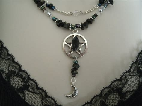 discreet pentacle necklace wiccan jewelry pagan jewelry wicca