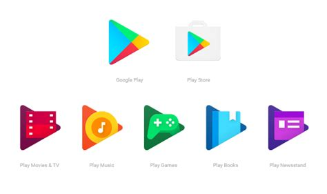 google design for android google updates google play apps with new consistent icons