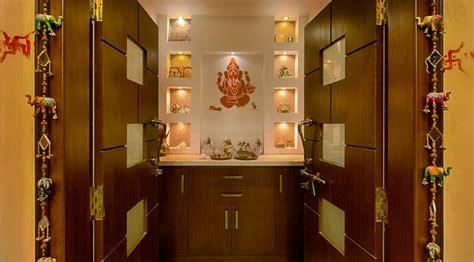 Pooja Room Designs in Hall   Pooja Room   Home Temple