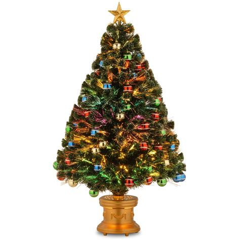 small fibre optic christmas tree shop perth national tree company 4 ft fiber optic fireworks artificial tree with ornaments