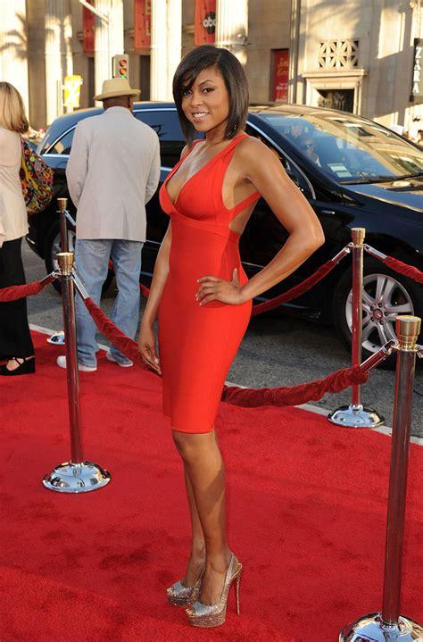 Taraji P Henson Red Dress   taraji p henson bandage dress taraji p henson bandage