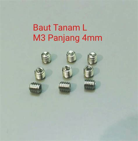 Baut L Stainless M6x20 jual baut tanam stainless steel l m3 panjang 4 stenlis rda rta ss304 alef