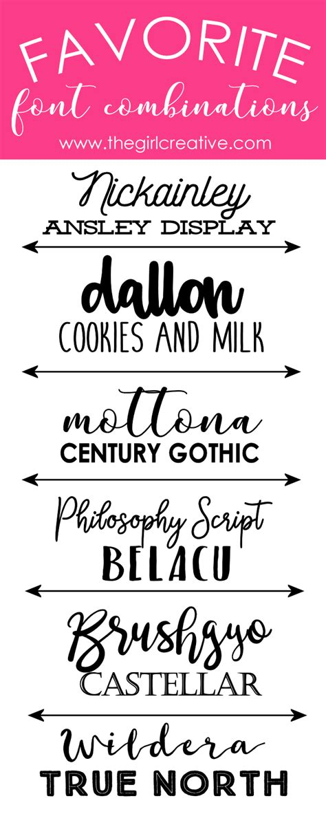 Wedding Fonts Commercial Use by Favorite Font Combinations Volume 2 Font Pairings