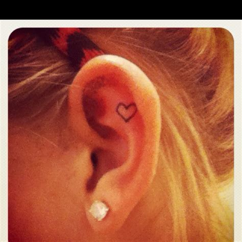 small heart tattoo behind ear ear tattoos ear tattoos