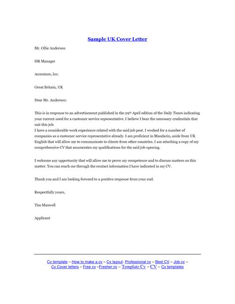 Cover Letter Service Uk Cover Letter In Uk Sles