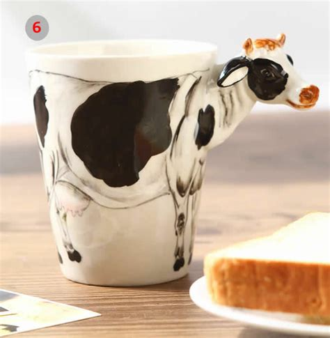 animal shaped mugs hand painted animal shaped coffee mug feelgift