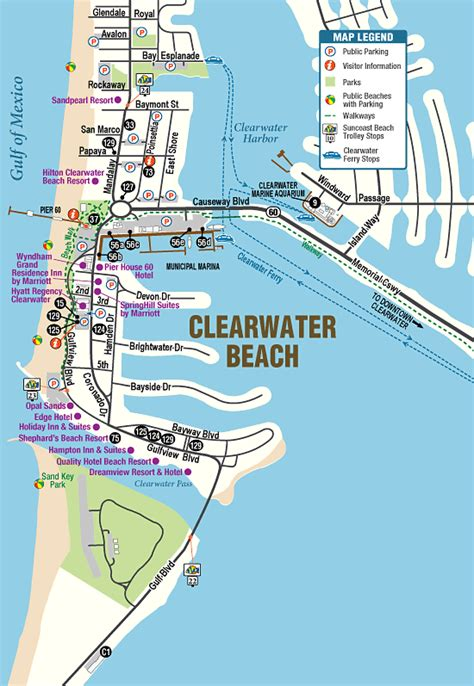 clearwater florida on map map of florida clearwater my