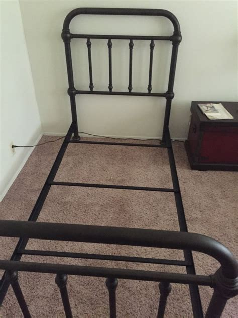 pottery barn bed frames pottery barn coleman twin steel bed frame bronze finish