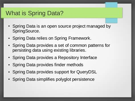 what is a spring spring data in 10 minutes