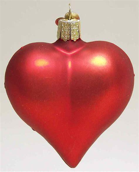merck family s old world christmas heart large red matte