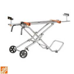 portable table saw home depot ridgid mobile miter saw stand ac9945 the home depot
