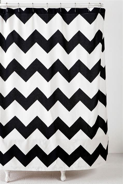black and white chevron shower curtain 1000 ideas about black shower curtains on pinterest