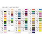Embroidery Thread Color Chart  Makarokacom