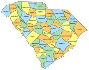 Is In What County South Carolina County Map