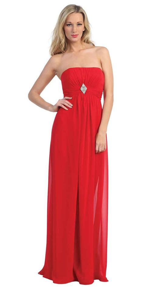 red strapless bridesmaid dresses long empire waist bridesmaid dresses clearance long red bridesmaid dress chiffon empire waist