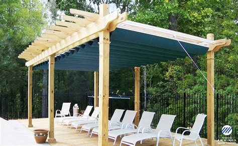 pergola with retractable shade canopy idea guide awnings sunrooms installation service
