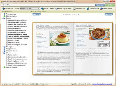 des recettes de cuisine le collectionneur de recettes logiciel de recettes et