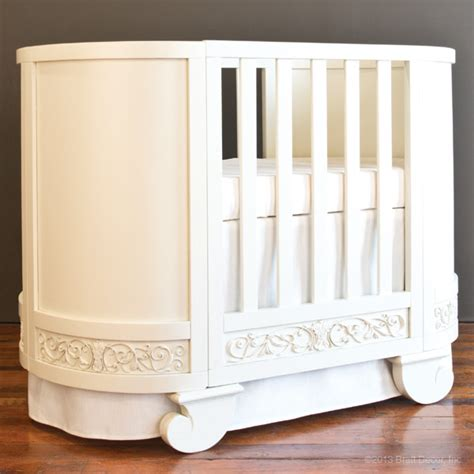 Oval Baby Cribs For Sale by Chelsea Oval Crib Cradle White