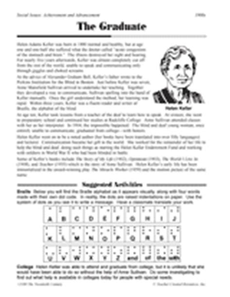 helen keller biography for third grade helen keller worksheets photos leafsea