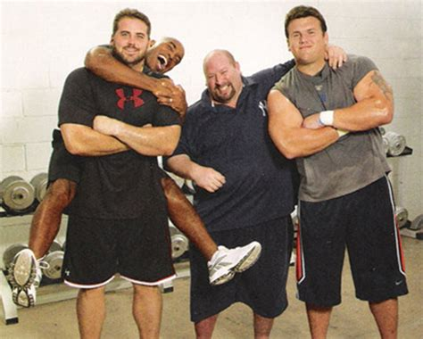 chris snee bench press about joe carini s house of iron