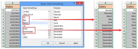 date format php month name how to convert date to weekday name or month name in excel