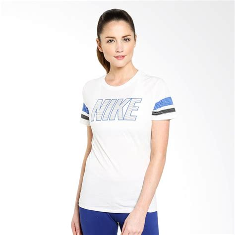 Kaos Sport Olahraga T Shirt Fitness Senam Wanita jual nike as varsity nike block 685526 100 white kaos olahraga wanita harga