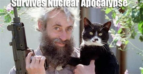 Crazy Cat Man Meme - funny meme mories crazy man with uzi and a cat