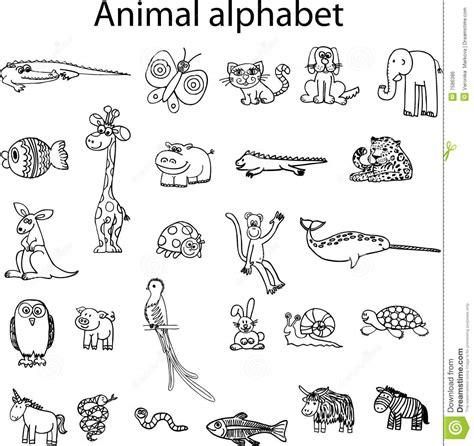 Animaux D Animal D Alphabet Image Libre De Droits Image