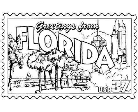 usa printables florida state st us states coloring pages