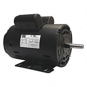 weg 5 hp light duty air compressor motor capacitor start run 3400 nameplate rpm 230 voltage