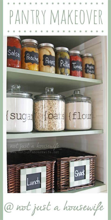 pantry makeover pantry makeover not just a housewife