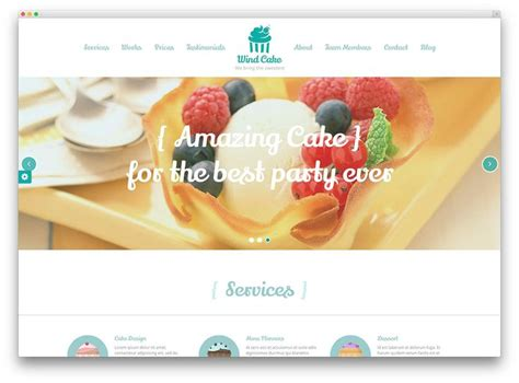 sweet themes bakery facebook 17 best images about bakery website design ideas on