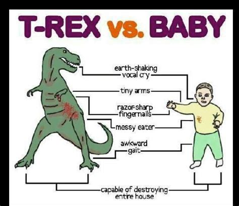 T Rex Birthday Meme - t rex vs baby jokes memes pictures